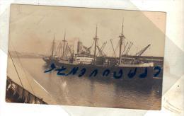 "Cpa Carte Photo  "" Parnahyba "" Lloyd Brasileiro Brésil 1913 Flensburg Allemagne Ex Alrich - Paquebots"