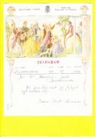 * Telegram - Télégramme (B16 - V)  * Koninkrijk België, Regie Van Telegraaf En Telefoon, Fantaisie, Huwelijk, Oostkamp - Feuilles Télégraphiques
