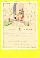 * Telegram - Télégramme (B18 - V)  * Koninkrijk België, Regie Van Telegraaf En Telefoon, Fantaisie, Huwelijk, Oostkamp - Entiers Postaux