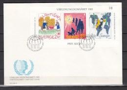 Sweden 1985,3V In Block On FDC,paintings,childrens Games,kinderspelen,kinder,enfant,niños,bambini ,Used,(L1704) - Andere