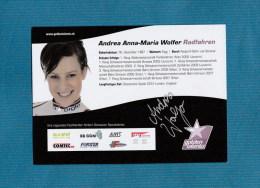 Anna-Maria Wolfer ( Schweizer Radrennfahrerin )  -  Persönlich Signiert - Autographes