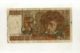 - FRANCE 1972/78 . BILLET 10 F. BERLIOZ - 1962-1997 ''Francs''
