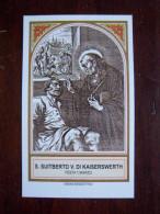 SANTINO - S.SUITBERTO V DI KAISERSWERTH - BIOGRAFIA - PREGHIERA - ORDINE BENEDETTINO - - Religion &  Esoterik