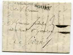 SEINE MARITIME De ROUEN LAC Du 04/09/1779 Marque Lenain N°13 Taxée 13 Pour SEDAN - Storia Postale