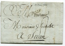 CHARENTE MARITIME De LA ROCHELLE  LAC Du 11/03/1784 Marque Lenain N°13 Taxée 17 Pour SEDAN - Storia Postale