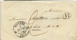 CACHET TYPE 12 MARANS CHARENTE MARITIME INFERIEURE 1841 ID - Marcophilie (Lettres)