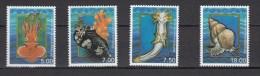 Faroer 2002,4V,shells,schelpen,schalen,coquilles,conchas ,conchiglie,octopus,MNH/Postfris(A1763) - Schelpen