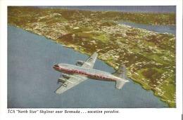 "TCA ""North Star"" Skyliner Over Bermuda . . . . . Vacation Paradise Trans-Canada Air Lines - 1946-....: Modern Era"