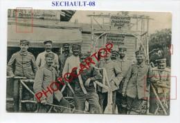 SECHAULT-LAZARET-Medecine-Desinfection-CARTE Allemande-Guerre14-18-1 WK-Militaria-France-08-Feldpost- - Non Classés