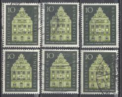 Deutschland BRD 1957 Mi 279 6x Gestempelt, 500 Jahre Landtag Württemberg, Sc 778, Yvert & Tellier 150 - Used Stamps