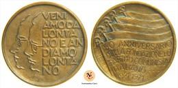 ITALIA MEDAGLIA 50° ANNIVERSARIO DEL PARTITO COMUNISTA PCI 1921-1971 - Professionali/Di Società