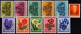 Ned 596-606 Postfris, 1952 Kind, 1953 Watersnood, Zomer - Ungebraucht