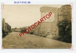 HAUVINE-CARTE PHOTO Allemande-Guerre14-18-1 WK-Militaria-France-08-Feldpost- - France