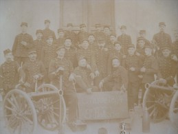 Photo  Originale Militaria Au Dos Pierre Viacara Bastia Classe 1894 8ème Batterie - Oorlog, Militair