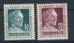 W�rttemberg Michel No. 47 - 48 ** postfrisch