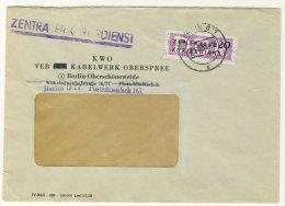 DDR  Dienst Gruppe B Michel No. 15 gestempelt auf Brief
