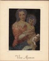 Carte Lumiseuse -  Vive Maman - ( Enfants Dans Les Bras De Sa Maman ) - Fête Des Mères