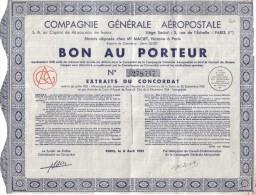 Lotto 2 Documenti Bon Au Porteur + Action De 100 Francs Doc.194 - Industrie
