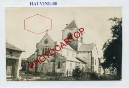 HAUVINE-CARTE PHOTO Allemande-Guerre14-18-1 WK-Militaria-France-08- - Non Classés