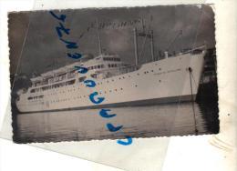 "Photo  Ancienne Bateau "" Ciudad De Barcelonna "" Transport Maritime Mer Navire Commerce - Schiffe"