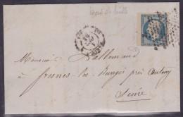 France N°10 Sur Lettre - Bord De Feuille - 1852 Louis-Napoléon