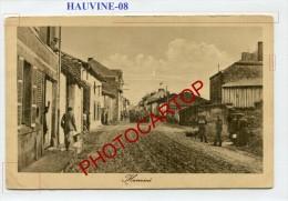 HAUVINE-CARTE Allemande-Guerre14-18-1 WK-Militaria-France-08- - Non Classés