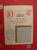 Buvard Dix. Table De Multiplication De Pythagore. Vers 1950. - Blotters