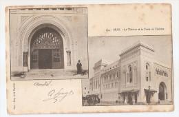 Tunisie - Sfax Le Théatre Et La Porte Imp De La Dépeche 1905 Timbre 5 Régence De Tunis - Túnez