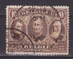 BELGIUM 1915. Mi 128 A, USED - 1915-1920 Albert I