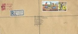 Zambia 1977 Martindale Kitwe Standard Bank Groundnuts Registered Cover - Zambia (1965-...)