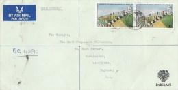 Zambia 1975 Luanshya Barclays Bank President Kuanda Kafue Bridge Registered Cover - Zambia (1965-...)