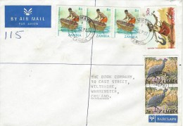 Zambia 1982 Chipata Barclays Bank Fishing Healer Health Registered Cover - Zambia (1965-...)