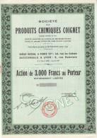 Société Des Produits Chimiques Coignet Au 40 Rue Du Colisée à Paris 8ème - FRANCO DE PORT - Agriculture