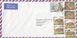 Zambia 1978 Kabwe Barclays Bank Cheetah Cat Pangolin Rhino Cover - Zambia (1965-...)