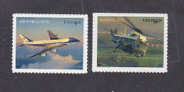 USA 2007. Presidential Aircraft: Marine One, Air Force One. 2 Stamps. MNH. - Ongebruikt