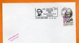 38 LA COTE SAINT ANDRE  HECTOR BERLIOZ ( Timbre Concordant ) 2003 Lettre Entière N° L 470 - Postmark Collection (Covers)