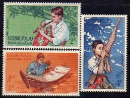 Laos N° 37  / 39  X  Musiciens La Série Des 3 Valeurs   Trace De Charnière Sinon TB - Laos