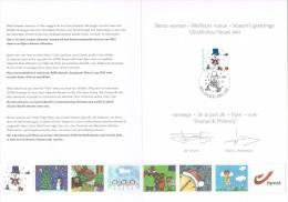 Année 2011 - COB 4192a Sur Carte De Voeu De La Poste - Documents De La Poste