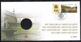 Année 2002 - COB 3073 - 850 Ans Abbaye De Leffe - Numéroté 4090 - Avec Médaille En Argent - België