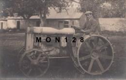 MOUSSEAUX NEUVILLE (27)  PHOTO CARTE TRACTEUR 1924 (MAC CORMICK ??) - Non Classés