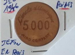 JETON  L ONCLE D AMERIQUE MIRO COMPANY 5000 - Casino