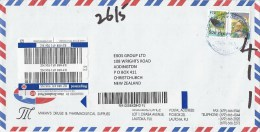 Fiji 2015 Lautoka Purple Swamphen 50c Over 44c Overprint Barn Owl Bird Of Prey $3 Barcoded Registered Cover - Fiji (1970-...)