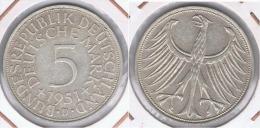 ALEMANIA 5 DEUTSCHE MARK D 1951 PLATA SILVER Z - [ 6] 1949-1990 : RDA - Rep. Dem. Alemana