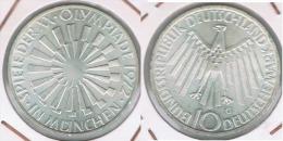 ALEMANIA 10 DEUTSCHE MARK G ESPIRAL 1972 PLATA SILVER Z - [ 7] 1949-… : FRG - Fed. Rep. Germany