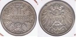 ALEMANIA DEUTSCHES REICH 1  MARK 1905 A PLATA SILVER. Z - 1 Mark