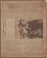CALENDRIER ALMANACH DES POSTES 1921 DESSIN ILLUSTRATEUR IDYLLE RADE BREST - Calendriers