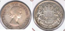 CANADA  50 CENTS DOLLAR 1953 PLATA SILVER Z - Canada