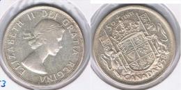CANADA  50 CENTS DOLLAR 1958 PLATA SILVER Z - Canada