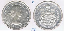 CANADA  50 CENTS DOLLAR 1962 PLATA SILVER Z - Canada