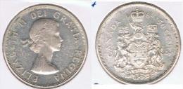 CANADA  50 CENTS DOLLAR 1964 PLATA SILVER Z - Canada